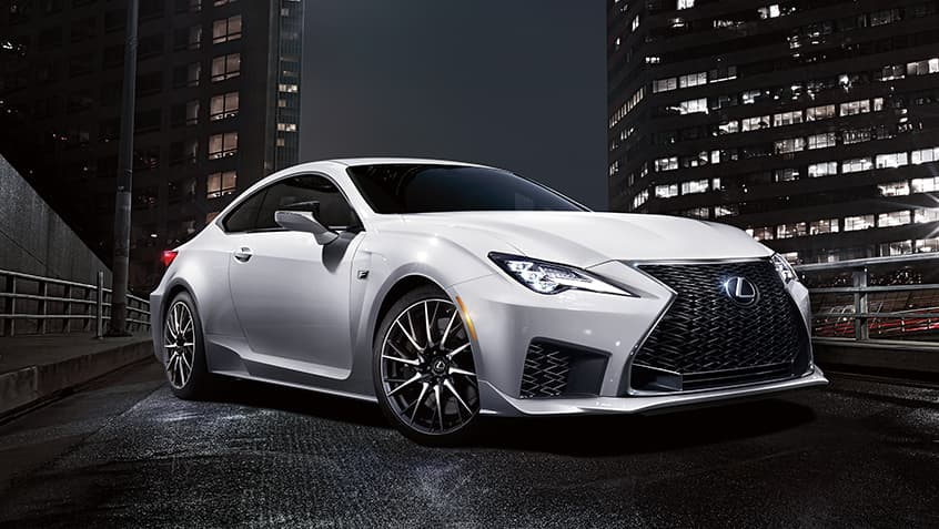 2020 RC F shown in Ultra White.