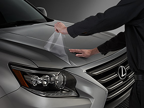 Hood and front fenders paint protection film for the Lexus GX