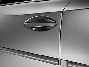 Exterior of the 2020 NX featuring the available door edge guards.