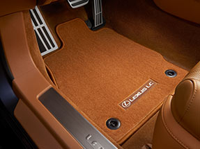 Carpet floor mats with Lexus logo and LC name.