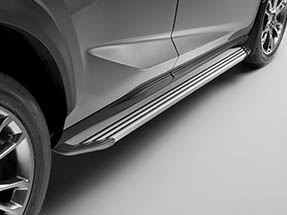 The available running boards shown on the 2020 NX.