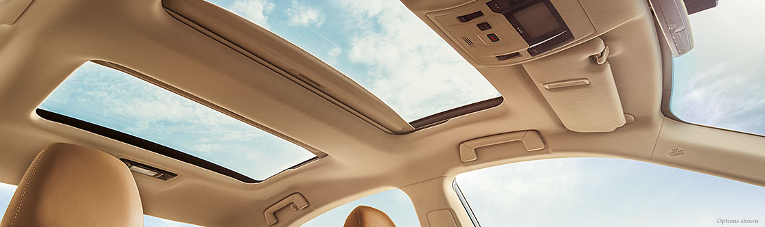 """PANORAMA GLASS ROOF<span class='tooltip-trigger disclaimer' data-disclaimers='[{""""code"""":""""PANORAMAES350"""",""""isTerms"""":false,""""body"""":""""Panorama glass roof available only on ES 350.""""}]'><span class='asterisk'>*</span></span>"""