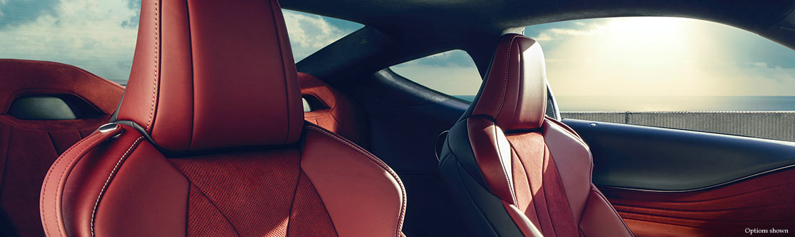 EIGHT-WAY POWER FRONT SPORT SEATS WITH ALCANTARA® INSERTS