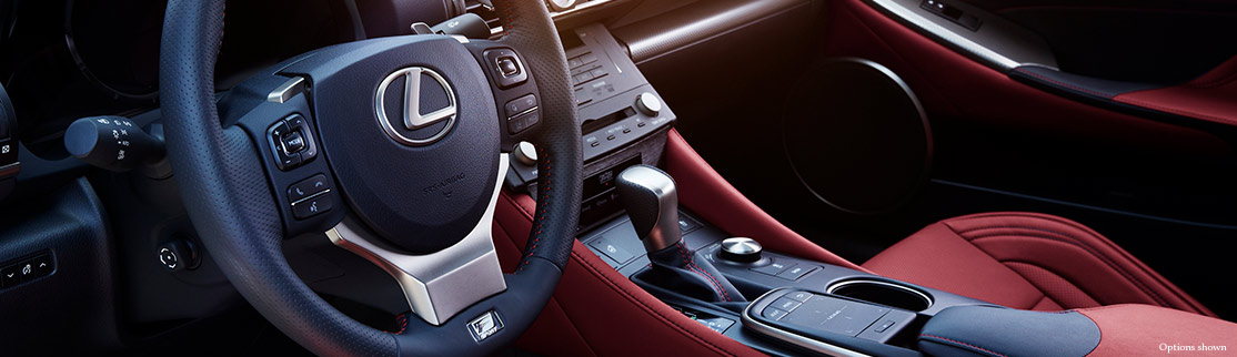 F SPORT PERFORATED LEATHER–TRIMMED STEERING WHEEL AND SHIFT KNOB