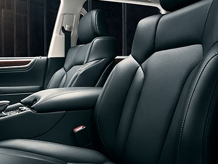 Image of SEMI-ANILINE PERFORATED LEATHER–TRIMMED INTERIOR