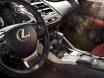 Image of F SPORT PERFORATED LEATHER–TRIMMED SHIFT KNOB AND HEATED STEERING WHEEL