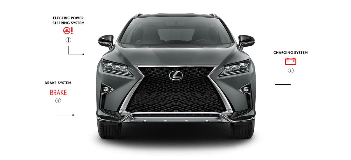 Exterior front shot of the Lexus RX F SPORT in Nebula Gray Pearl color.
