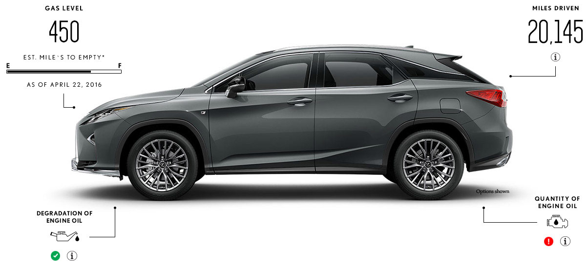 Exterior shot of the 2016 Lexus RX F SPORT in Nebula Gray Pearl color.