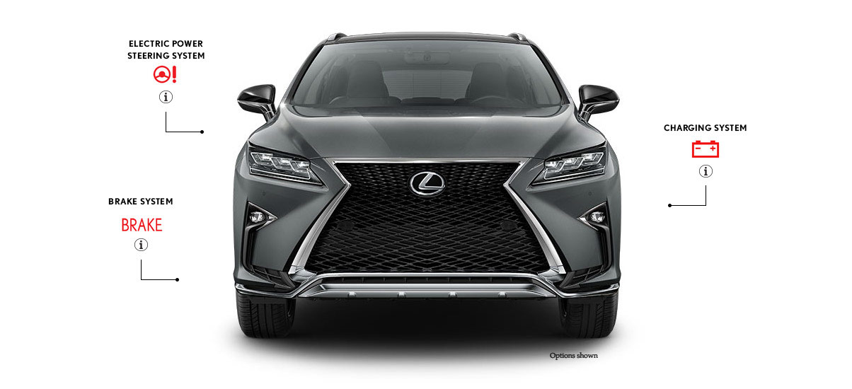 Exterior front shot of the 2016 Lexus RX F SPORT in Nebula Gray Pearl color.