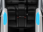 REAR SEAT-MOUNTED SIDE AIRBAGS (SRS)