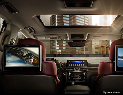2017 lexus lx luxury suv technology lexus com the available dual screen rear seat entertainment system enables two video sources to be viewed at the same time on lcd screens behind the front headrests