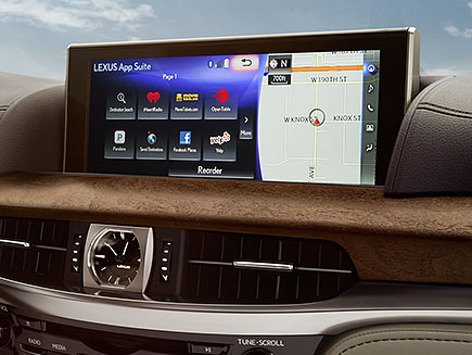Interior shot of the 2017 Lexus LX Enform screen.