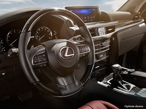 Interior shot of the 2017 Lexus LX.