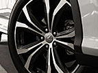20-INCH SPLIT-FIVE-SPOKE ALLOY WHEELS WITH DARK SILVER AND MACHINED FINISH (RX 350, RX 450h, RX 350L, RX 450hL ONLY)