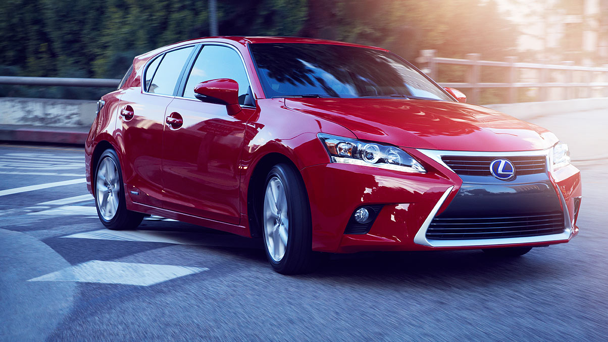 2017 Lexus CT shown in Redline.