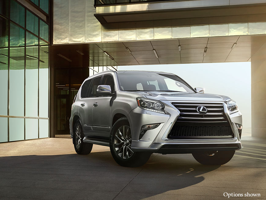 Exterior shot of the 2018 Lexus GX 460 shown in Silver Lining Metallic.
