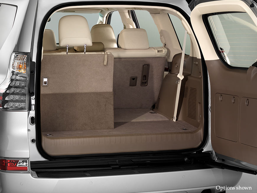Shot of the rear cargo area of the 2017 Lexus GX 460.