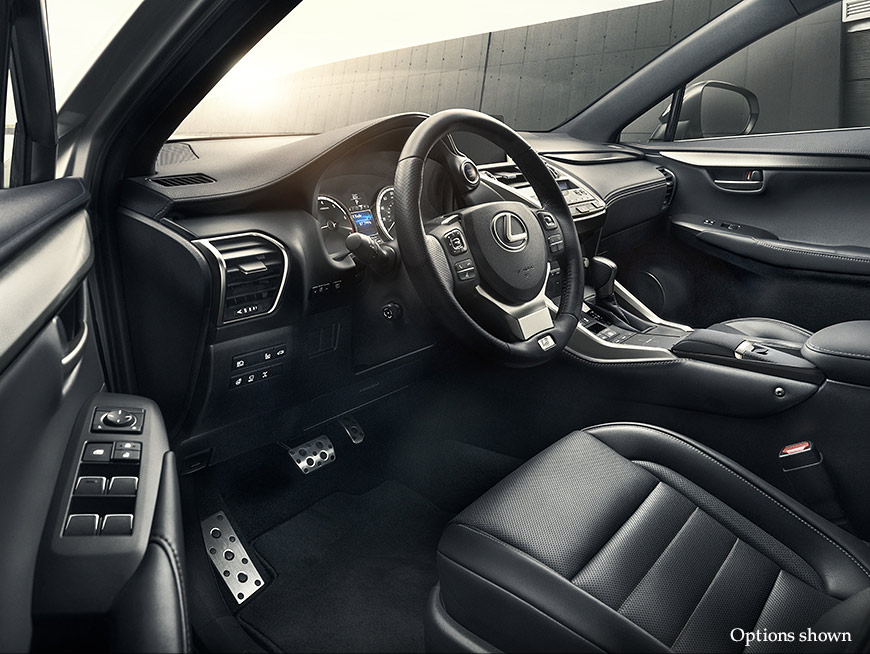 Interior shot of the 2018 Lexus NX shown with Metallic Sport trim