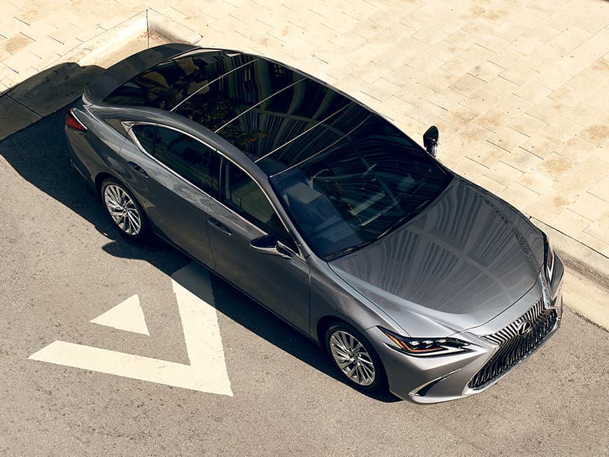 Lexus ES shown in Nebula Gray Pearl.