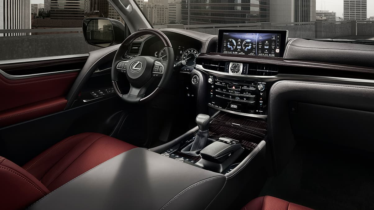 Interior shot of the 2019 Lexus LX.
