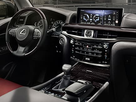 Interior Shot Of The 2019 Lexus Lx