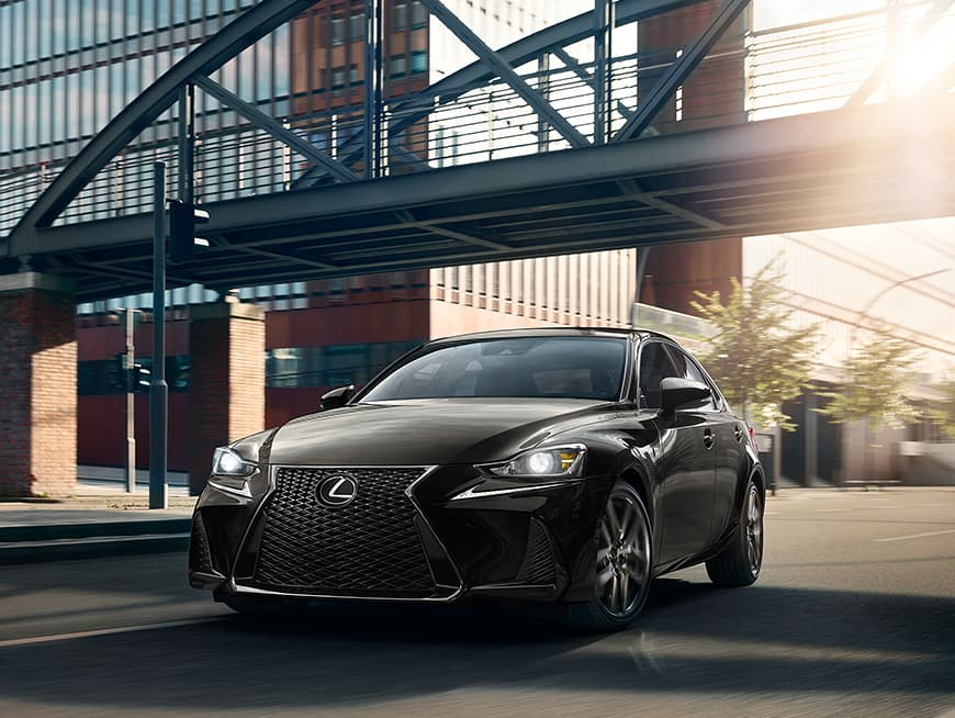 Lexus IS F SPORT shown in Obsidian.