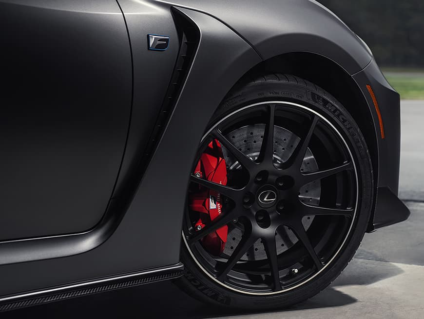 Michelin Pilot Sport 4 S tires shown on the 2020 RC F.