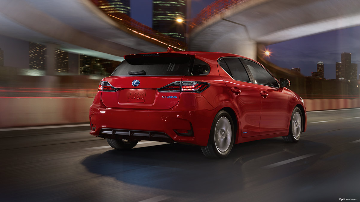 Exterior shot of the 2017 Lexus CT shown in Redline.