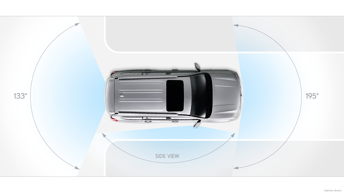 Aerial view of the 2018 Lexus GX 460.