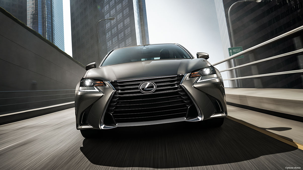 Exterior shot of the 2017 Lexus GS shown in Atomic Silver