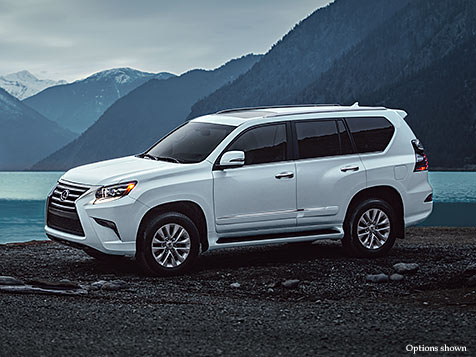 Exterior shot of the 2018 Lexus GX 460 shown in Starfire Pearl.