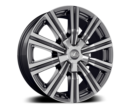 Exterior shot of the 2018 Lexus LX wheel.
