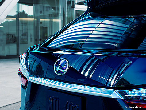 Exterior shot of the 2018 Lexus RX Hybrid power rear door.