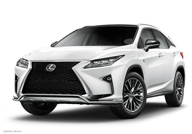 Exterior shot of the 2018 Lexus RX F Sport.