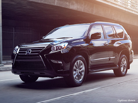 Exterior shot of the 2018 Lexus GX 460 shown in Black Onyx.