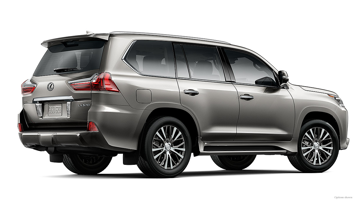 Exterior shot of the 2018 Lexus LX in Atomic Silver.