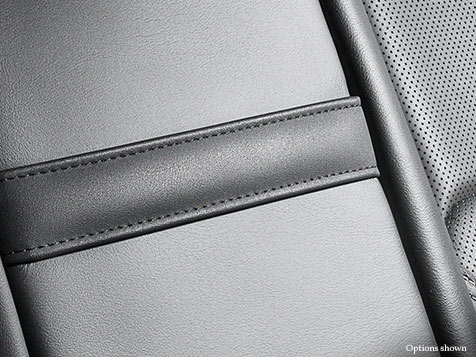 Interior shot of the 2018 Lexus NX Hybrid shown with available Black leather trim.