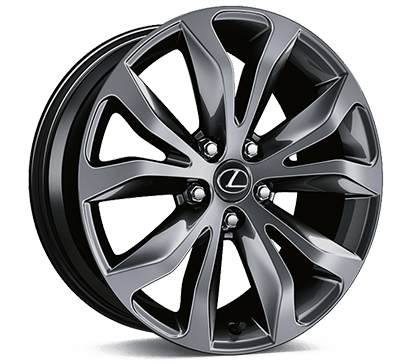 Lexus NX F SPORT 18-in split-five-spoke alloy wheels.