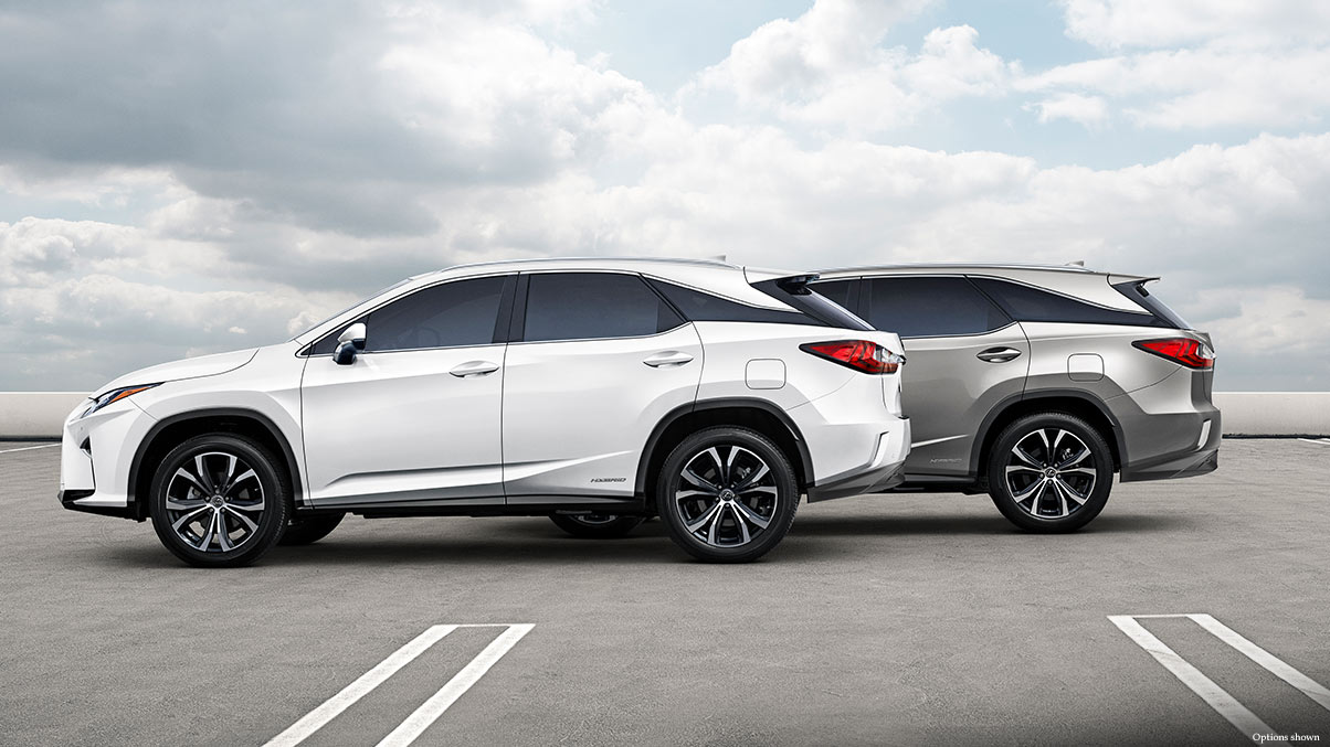 Exterior shot of the 2018 Lexus RX 450h and RX 450hL