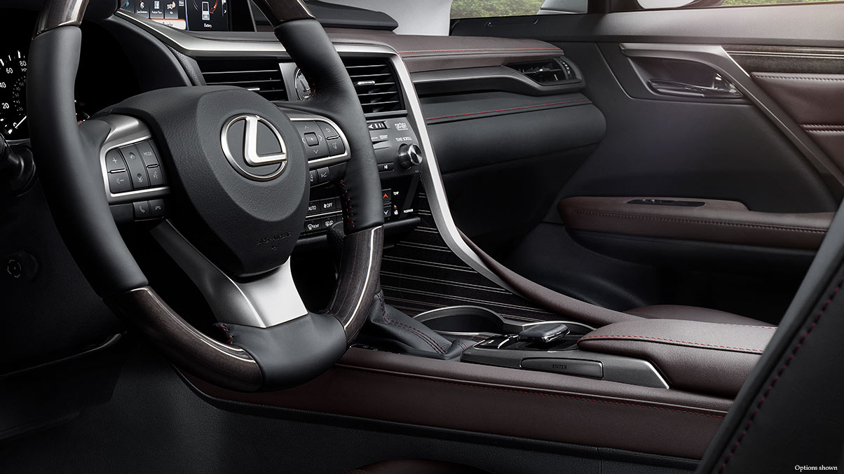 Interior shot of the 2018 Lexus RX Hybrid.