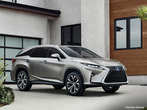 Exterior shot of the 2018 Lexus RXL shown in Atomic Silver.
