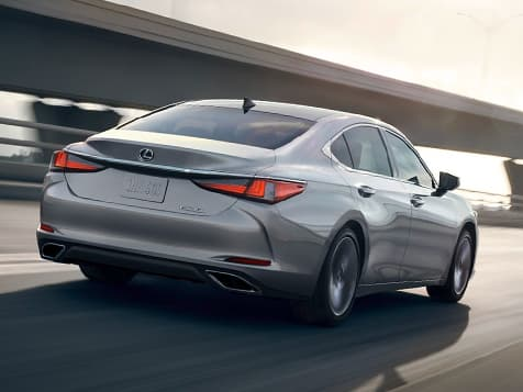 Exterior shot of the 2019 Lexus ES shown in Silver Lining  Metallic.