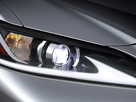 2019 Lexus ES Hybrid shown with Bi-LED headlamps.