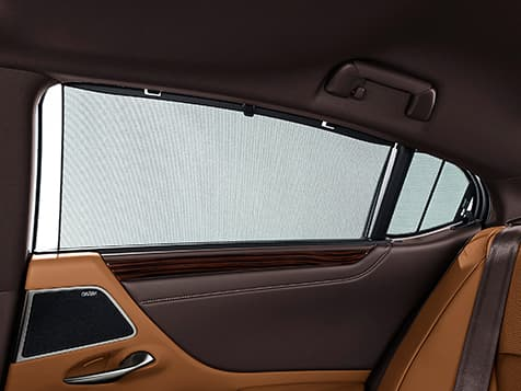 2019 Lexus ES Hybrid Ultra Luxury shown with Flaxen semi-aniline leather trim.