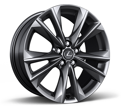 19-in split-five-spoke alloy wheels with Dark Graphite finish.