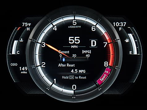 2019 Lexus ES 350 F SPORT LFA-inspired digital instrumentation.