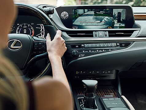 2019 Lexus ES interior shown with Chateau semi-aniline leather trim.