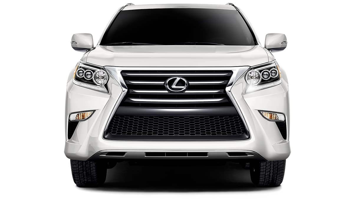 Exterior shot of the 2019 Lexus GX 460 shown in Starfire Pearl.