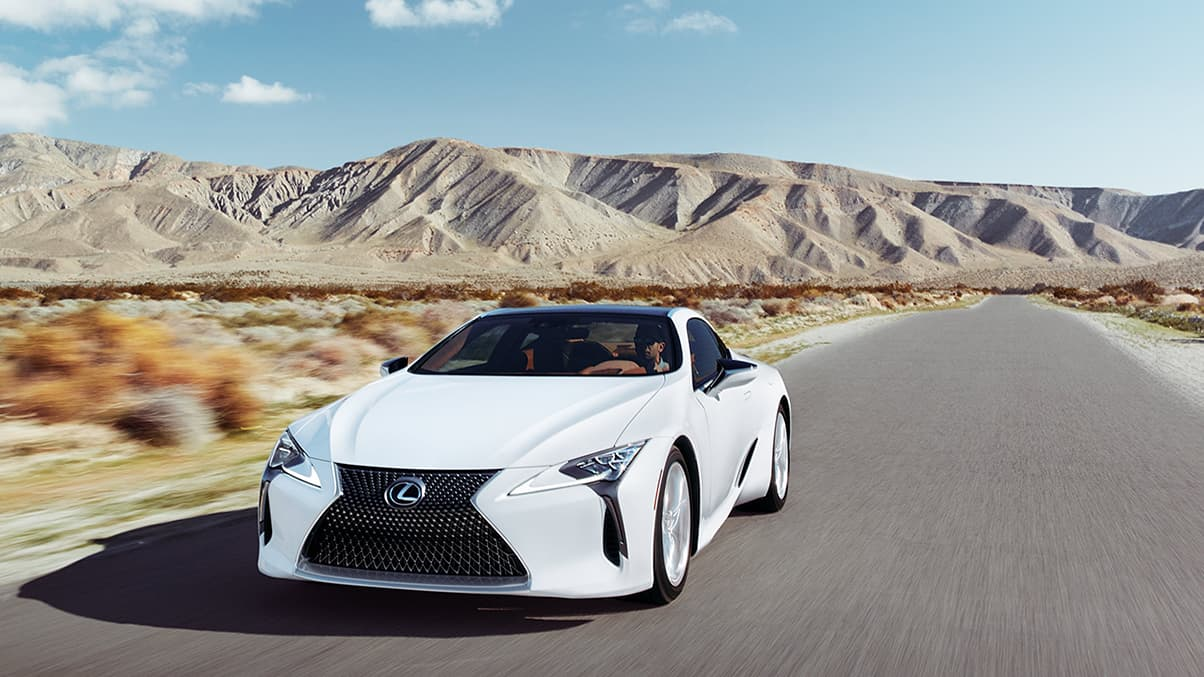 Lexus LC 500 shown in Ultra White.