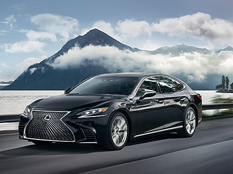 Lexus LS shown in Obsidian.